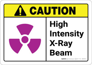 Caution: High Intensity X Ray Beam ANSI - Wall Sign