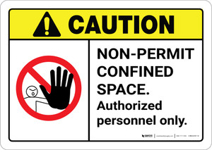Caution: Non Permit Confined Space ANSI - Wall Sign