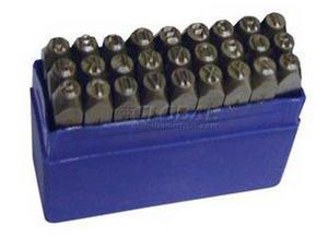 "3/8"" Import 36 Pc. Valve Tag Letters & Numbers Steel Stamp Set"