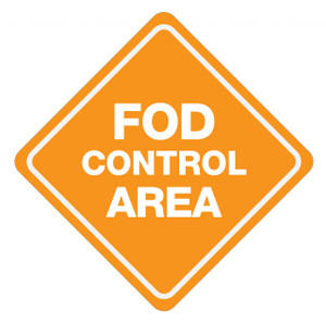 FOD Control Area Type B (Floor Sign)