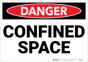 Danger: Confined Space - Wall Sign