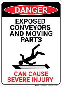 Danger: Exposed Conveyors - Wall Sign