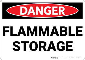 Danger: Flammable Storage - Wall Sign