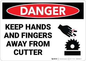 Danger: Machine Hands Fingers Cutter - Wall Sign