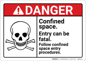 Danger: Entry Can Be Fatal Permit ANSI - Wall Sign