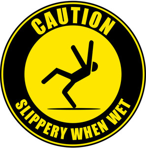 Slippery When Wet B (Floor Sign)
