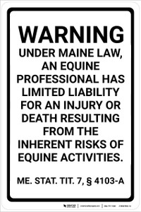 Maine Equine ME - Wall Sign