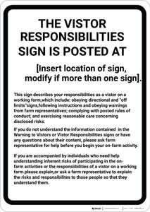 Massachusetts Equine Liability MA - Wall Sign