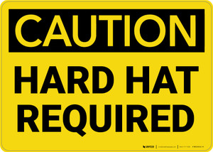 Caution: Hard Hat Required - Wall Sign