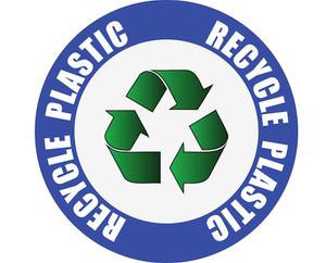 Recycle Plastic - Floor Sign