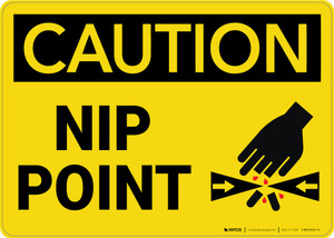 Caution: Nip Point - Wall Sign