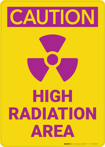 Caution: High Radiation Area - Wall Sign