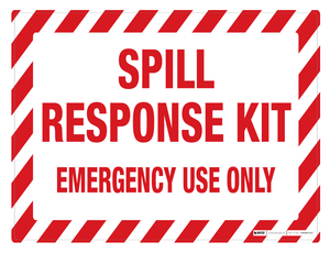 Spill Kit Response (Wall Sign)