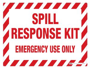 Spill Kit Response (Wall Sign)