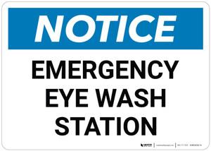 Notice: Emergency Eyewash Station - Wall Sign