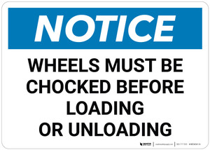 Notice: Wheels Chocked Before Loading - Wall Sign
