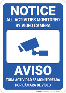 Notice: All Activities Bilingual Spanish - Wall Sign