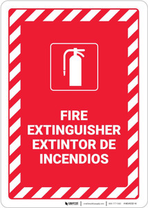 Fire Extinguisher Bilingual Spanish - Wall Sign
