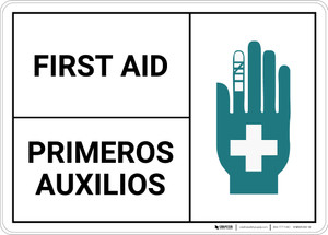 First Aid Bilingual Spanish - Wall Sign
