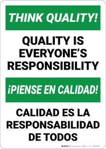Think Quality Bilingual Spanish - Wall Sign