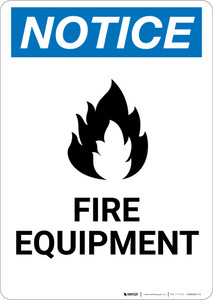 Notice: Fire Equipment Portrait with Icon - Wall Sign