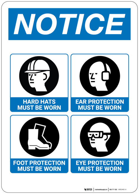 Notice: Job Site Safety Sign - Wall Sign