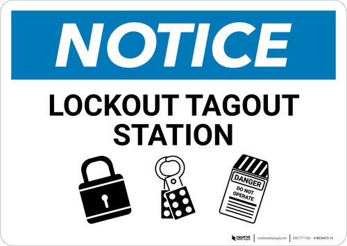 Notice: Lockout Tagout Station - Wall Sign