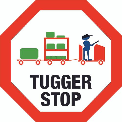 Tugger Stop - Floor Sign