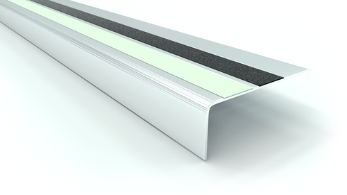 Aluminum Traction and Glow Stair Nosing