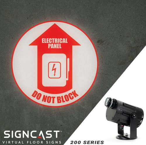 SignCast S200 Virtual Sign Projector - Electrical Panel, Do Not Block