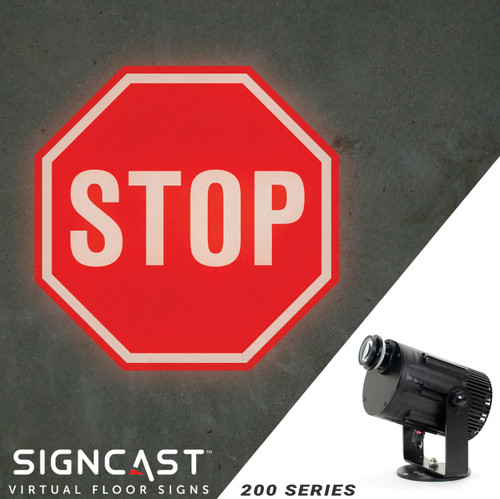 SignCast S200 Virtual Sign Projector - Stop Sign