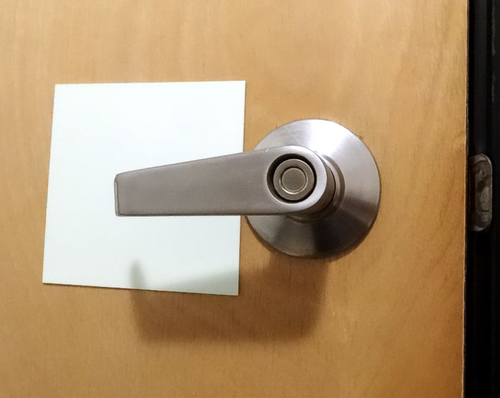 Glow: Egress Door Handle Backing