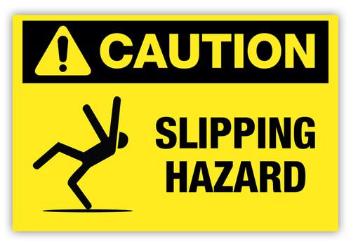 Caution - Slipping Hazard Label