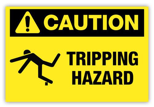 Caution - Tripping Hazard Label