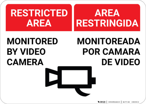 Bilingual Spanish Restricted Area - Wall Sign
