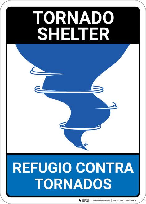 Bilingual Spanish Tornado Shelter - Wall Sign