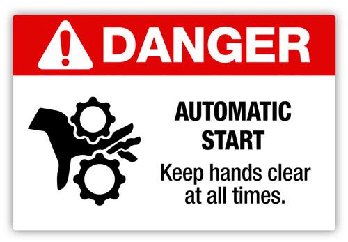 Danger - Automatic Start Label