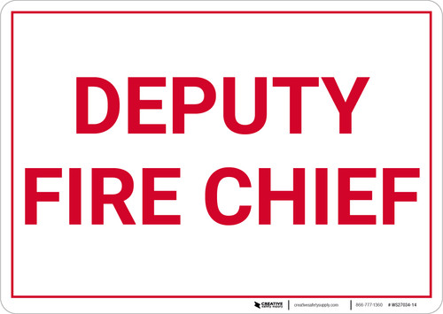 Deputy Fire Chief Landscape - Wall Sign