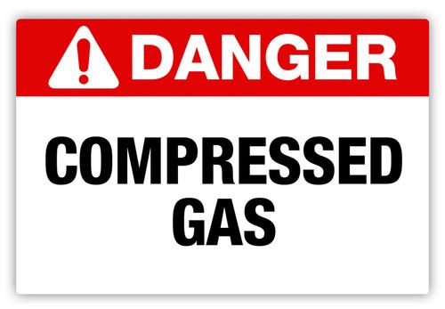 Danger - Compressed Gas Label