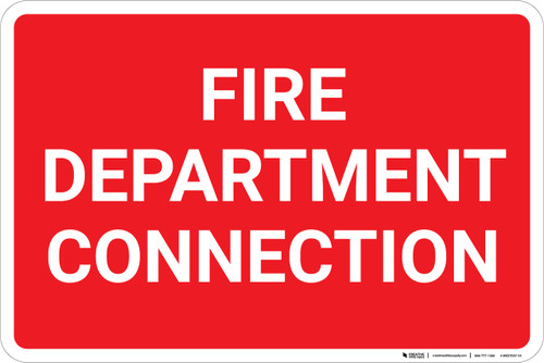 Fire Department Connection Landscape - Wall Sign