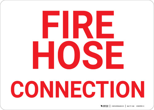 Fire Hose Connection Landscape - Wall Sign