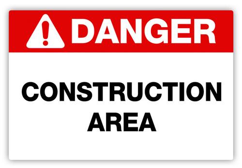 Danger - Construction Area Label