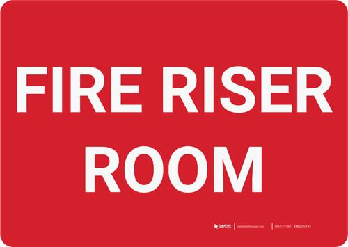 Fire Riser Room Landscape - Wall Sign