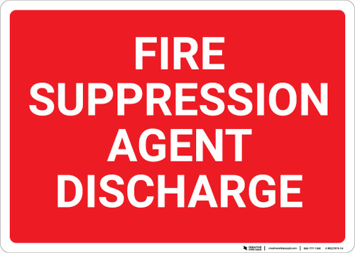 Fire Suppression Agent Discharge Landscape - Wall Sign