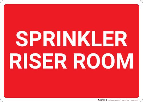 Sprinkler Riser Room Red Landscape - Wall Sign