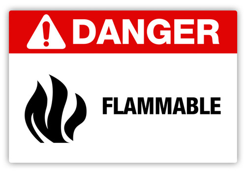 Danger - Flammable Label