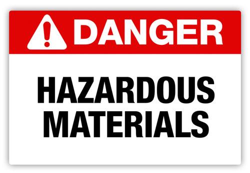 Danger - Hazardous Materials Label