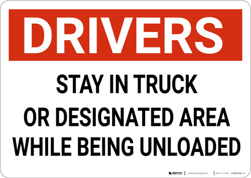 Drivers Stay In Truck While Being Unloaded Landscape - Wall Sign