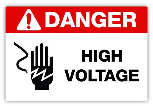 Danger - High Voltage Label