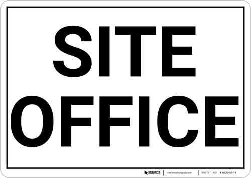 Site Office Landscape - Wall Sign